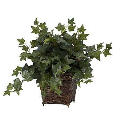 Nearly Natural 6705 Puff Ivy Silk Plant in Planter