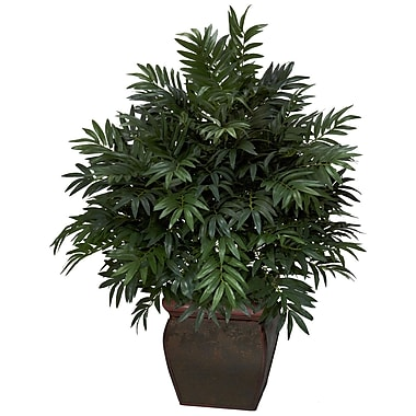 Nearly Natural 6719 Triple Bamboo Palm Plant in Pot