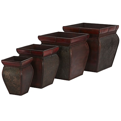 Nearly Natural 523 Square Planters Set of 4