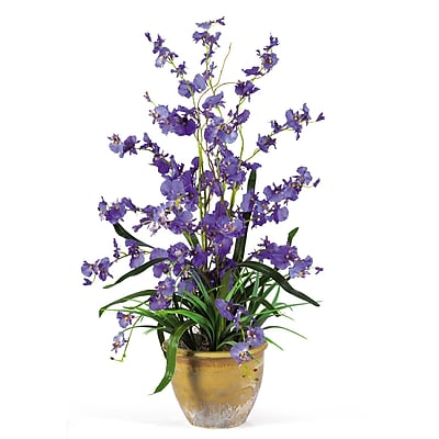 Nearly Natural 1005-PP Dancing Lady Floral Arrangements, Purple