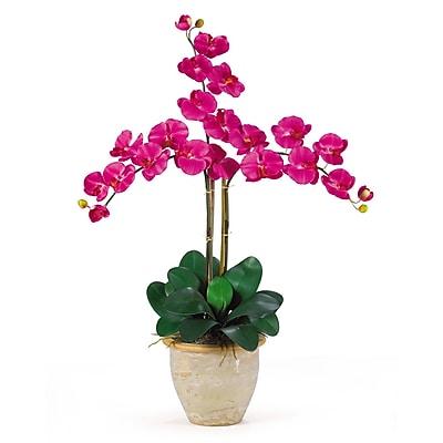 Nearly Natural 1017-BU Triple Phalaenopsis Floral Arrangements, Beauty pink
