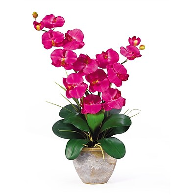 Nearly Natural 1026-BU Double Phalaenopsis Floral Arrangements, Beauty pink