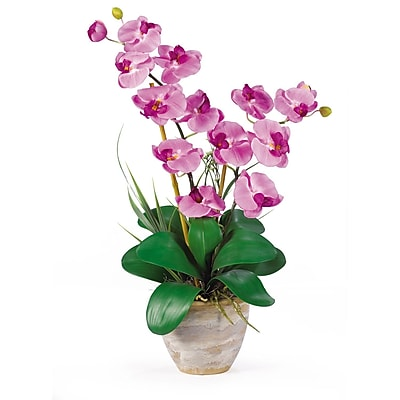 Nearly Natural 1026-MA Double Phalaenopsis Floral Arrangements, Mauve