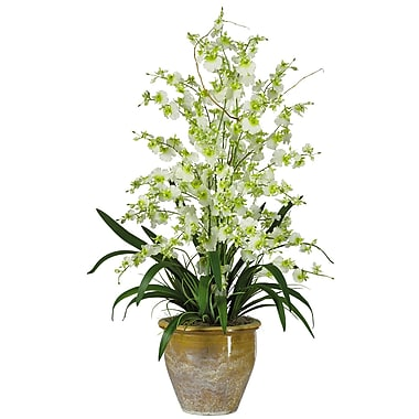 Nearly Natural 1070-GR Triple Dancing Lady Floral Arrangements, Green