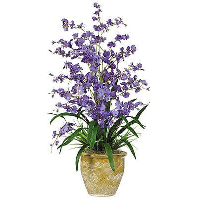 Nearly Natural 1070-PP Triple Dancing Lady Floral Arrangements, Purple
