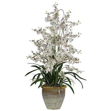 Nearly Natural 1070-WH Triple Dancing Lady Floral Arrangements, White