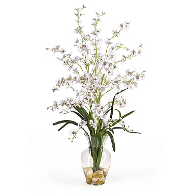 Nearly Natural 1073-WH Dancing Lady Floral Arrangements, White