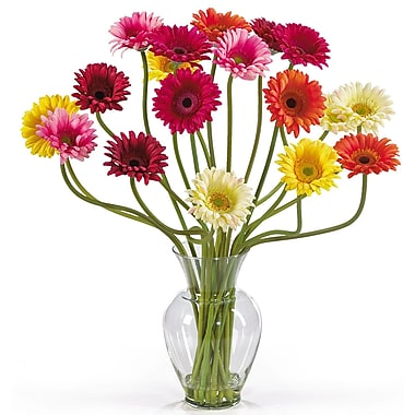Nearly Natural 1086-AS Gerber Daisy Floral Arrangements, Available in assorted
