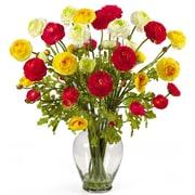 Nearly Natural 1087 Ranunculus Floral Arrangements