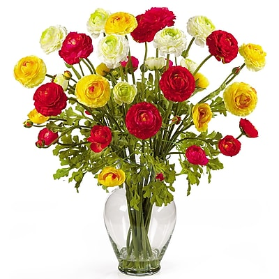 Nearly Natural 1087-AS Ranunculus Floral Arrangements, Assorted