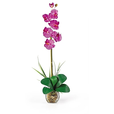 Nearly Natural 1104-OR Single Phalaenopsis Floral Arrangements, Orchid