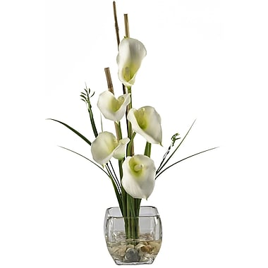 Nearly Natural 1118-CR Calla Lilly Floral Arrangements, Cream