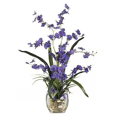 Nearly Natural 1119-PP Dancing Lady Floral Arrangements, Purple