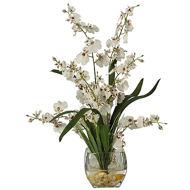 Nearly Natural 1119-WH Dancing Lady Floral Arrangements, White