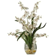 Nearly Natural Dancing Lady Floral Arrangements, White (1119-WH)