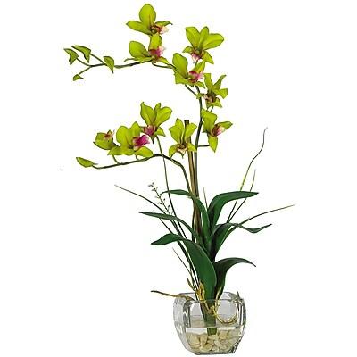 Nearly Natural 1135-GR Dendrobium Floral Arrangements, Green