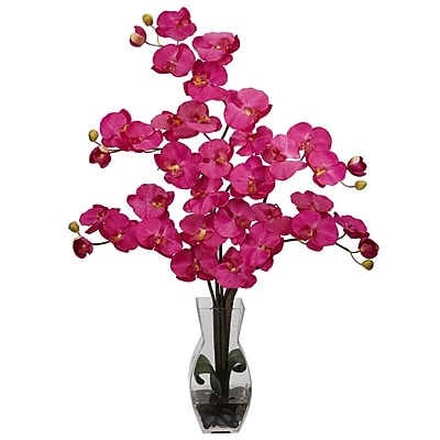 Nearly Natural 1191-BU Phalaenopsis Arrangements, Beauty pink