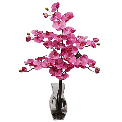 Nearly Natural 1191-DP Phalaenopsis Arrangements, Dark pink