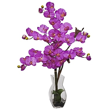 Nearly Natural 1191-OR Phalaenopsis Arrangements, Orchid