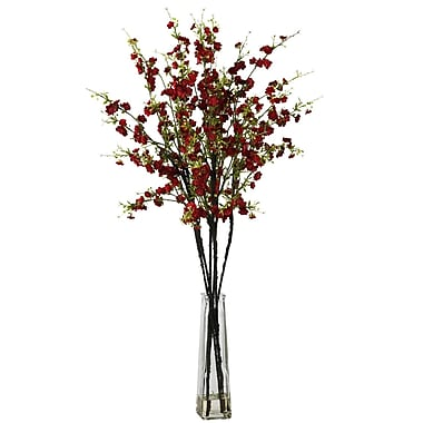 Nearly Natural 1193-RD Cherry Blossoms Floral Arrangements, Red