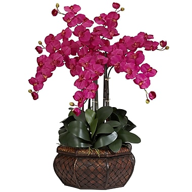 Nearly Natural 1201-BU Large Phalaenopsis Floral Arrangements, Beauty pink