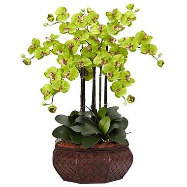 Nearly Natural 1201-GR Large Phalaenopsis Floral Arrangements, Green