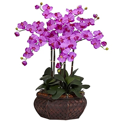 Nearly Natural 1201-OR Large Phalaenopsis Floral Arrangements, Pink