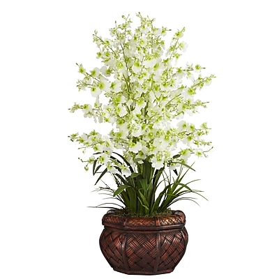 Nearly Natural 1207-GR Dancing Lady Floral Arrangements, Green