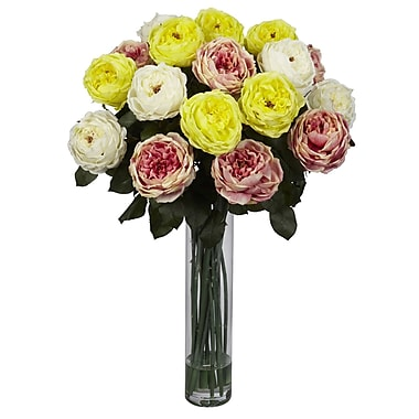 Nearly Natural 1219-AP Fancy Rose Floral Arrangements, Assorted
