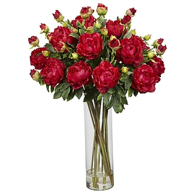 Nearly Natural 1231-RD Giant Peony Floral Arrangements, Red