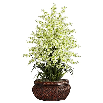Nearly Natural 1244-GR Large Dancing Lady Floral Arrangements, Green
