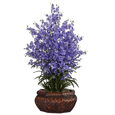 Nearly Natural 1244-PP Large Dancing Lady Floral Arrangements, Purple