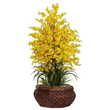 Nearly Natural 1244-YL Large Dancing Lady Floral Arrangements, Yellow
