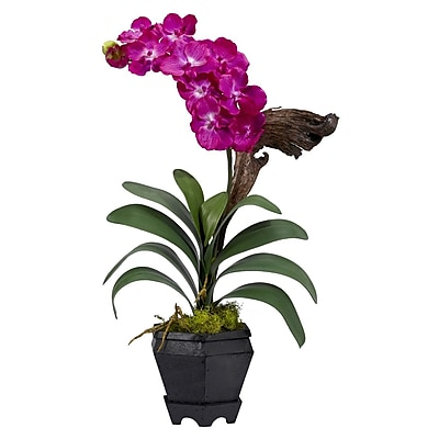 Nearly Natural 1252-BU Vanda Floral Arrangements, Beauty pink