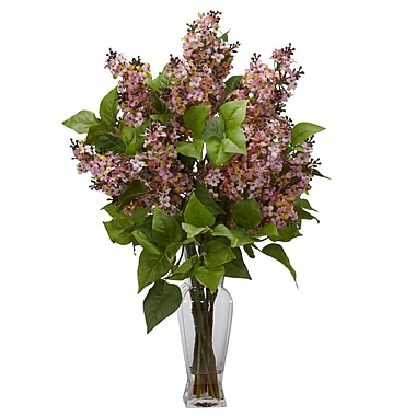 Nearly Natural 1256-PK Lilac Arrangements, Pink