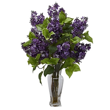Nearly Natural 1256-PP Lilac Floral Arrangements, Purple