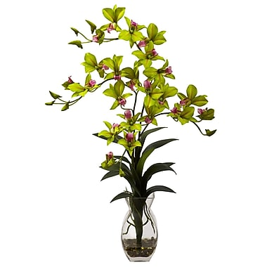 Nearly Natural 1292-GR Dendrobium Floral Arrangements, Green