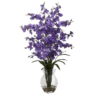 Nearly Natural 1294-PP Dancing Lady with Vase Floral Arrangements, Purple