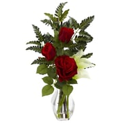 Nearly Natural 1306 Rose Calla Floral Arrangements