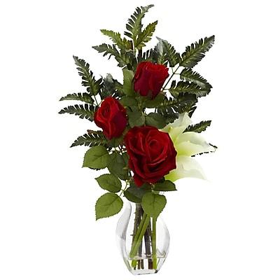 Nearly Natural 1306-CR Rose Calla Floral Arrangements, Cream