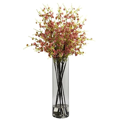 Nearly Natural 1316-PK Giant Cherry Blossom Floral Arrangements, Pink