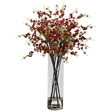 Nearly Natural 1316-RD Giant Cherry Blossom Floral Arrangements, Red