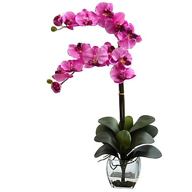 Nearly Natural 1323-MV Double Phal Arrangements, Mauve