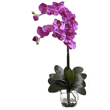 Nearly Natural 1323-OR Double Phal Arrangements, Orchid