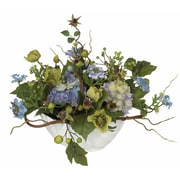 Nearly Natural 4622 Hydrangea Centerpieces, Blue
