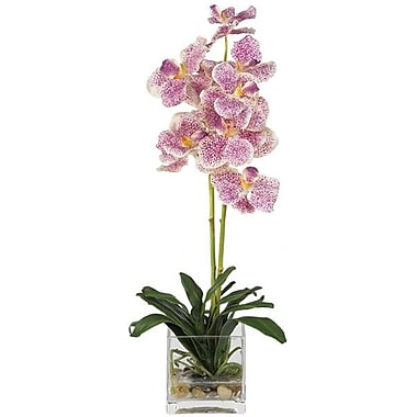 Nearly Natural 4638 Vanda Silk Floral Arrangements, Purple