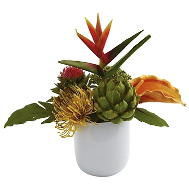 Nearly Natural 4820 Tropical Floral Arrangements, Green