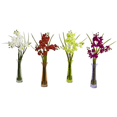 Nearly Natural 4823 Mini Phaleanopsis Set of 4, Assorted