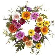 """Nearly Natural 4936 26"""" African Sunflower Wreath, Assorted"""