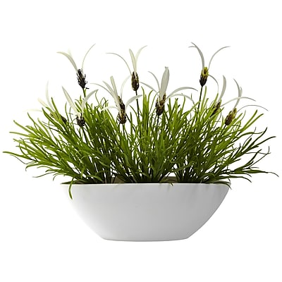 Nearly Natural 4955 White Floral Plant in Pot